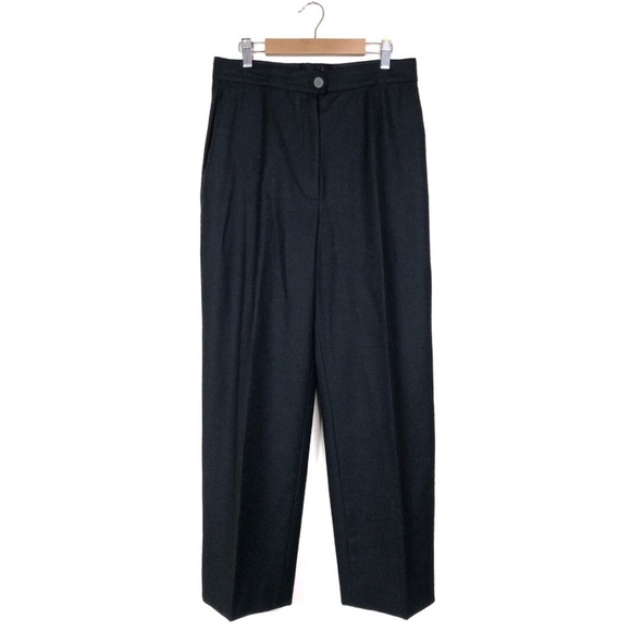 CHANEL Pants - Chanel Wool Cashmere Blend Grey Pants Trousers